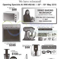 Read more about Mayer Opening Specials @ IMM 8 - 10 May 2015