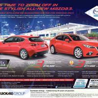 Read more about Mazda 3 Hatchback & Sedan Offer 16 May 2015