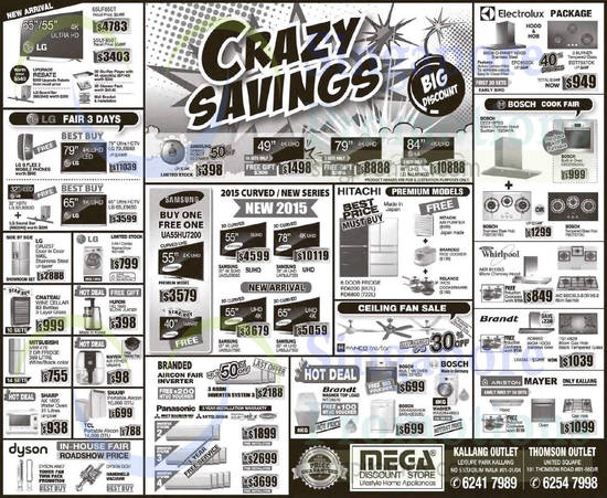 Mega Discount Store Tvs, Washers, Hobs & Other Appliances Offers 23 May 2015