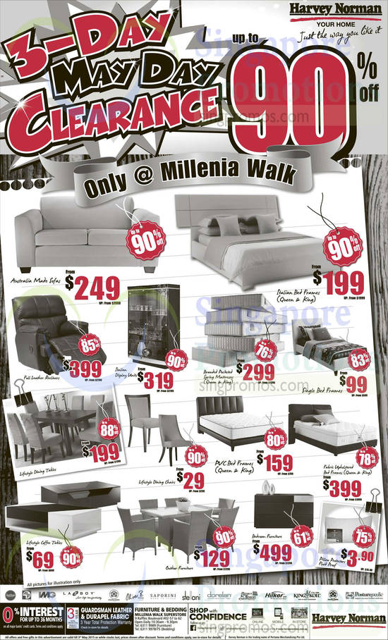 Millenia Walk Beddings, Furniture, Mattresses, Dining Tables, Coffee Tables, Bed Frames, Recliners, Aarhus, ALF, IMG, Lazboy, Marie Claire