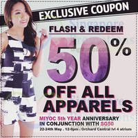 Read more about Miyoc 50% Off Atrium Event @ Orchard Central 22 - 24 May 2015