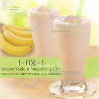 Mr Bean Buy 1 Get 1 FREE Banana Yoghurt Smoothie 29 May - 2 Jun 2015
