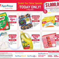 NTUC Fairprice Stretch Your Dollar 1-Day Deals 3 May 2015