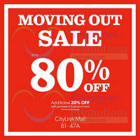 Read more about New Look Moving Out Sale @ Citylink Mall 15 May 2015