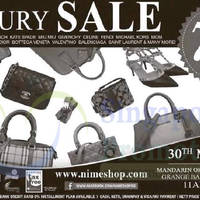 Nimeshop Branded Handbags Sale @ Mandarin Orchard 30 May 2015