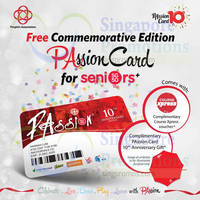 PAssion Card Free Commemorative Edition for Seniors 23 May 2015