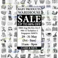 Premium Baby Products Warehouse Sale 29 - 31 May 2015