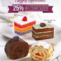 Read more about Prima Deli 25% off Two Cake Slices 15 May - 30 Jun 2015