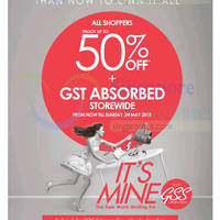 Read more about Robinsons Up to 50% Off & GST Absorbed Promotion 21 - 24 May 2015