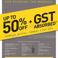 Read more about Robinsons Up to 50% Off & GST Absorbed Promotion 30 Apr - 3 May 2015