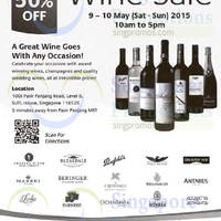 Read more about SUTL Wine Sale 9 - 10 May 2015