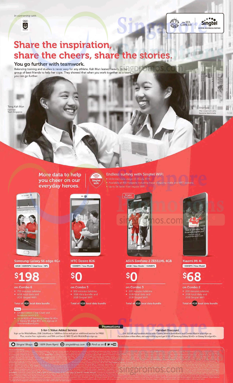 Samsung Galaxy S6 Edge, HTC Desire 826, Asus Zenfone 2 ZE551ML, Xiaomi Mi 4i