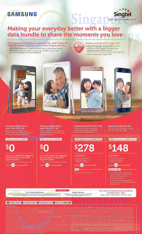 Samsung Galaxy Tab A 8.0, Samsung Galaxy Tab A 9.7, Samsung Galaxy Note 4, Samsung Galaxy S6
