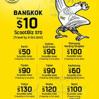 Scoot fr $10 2hr Promo Air Fares (7am - 9am) 26 May 2015