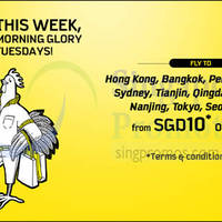 Scoot fr $10 2hr Promo Air Fares (7am - 9am) 5 May 2015