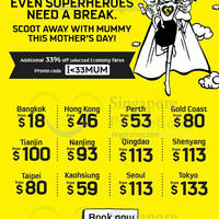 Read more about Scoot fr $18 Promo Fares & 33% Off Economy Fares Promo Code 8 - 10 May 2015