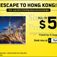 Read more about Scoot $59 (all-in) Hong Kong Promo Fares 11 - 13 May 2015