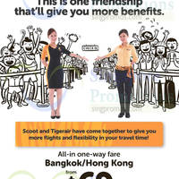 Scoot & Tigerair fr $69 Bangkok / Hong Kong Promo Fares 25 May 2015