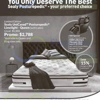 Sealy UniCased Posturepedic Limelight Mattress Offer 22 May 2015
