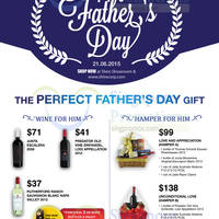 Shiro Father's Day Wines & Hampers Offers 28 May - 21 Jun 2015