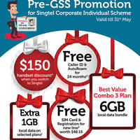 Read more about Singtel Pre-GSS Promotion for CIS (Corporate Individual Scheme) 15 - 31 May 2015