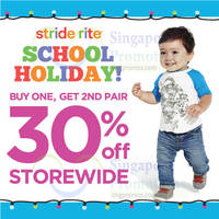 Read more about Stride Rite 30% Off 2nd Pair Promo 29 May - 28 Jun 2015