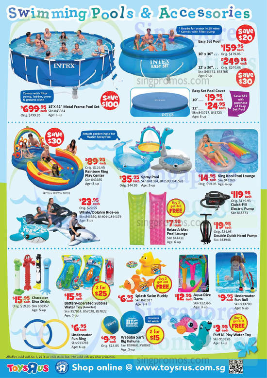 Swimming Pools N Accessories Toys R Us Hot Outdoor Deals Promotion 7 May 1 Jun 2015