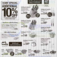 Read more about Takashimaya Zwilling J.A.Henckels & Staub Knives & Cookware Offers 21 May - 11 Jun 2015