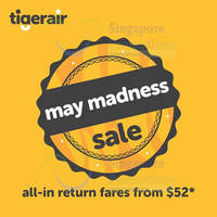 Read more about TigerAir fr $52 (all-in) Return Promo Fares 4 - 10 May 2015