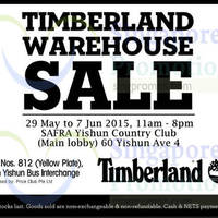 Timberland Warehouse Sale 29 May - 7 Jun 2015