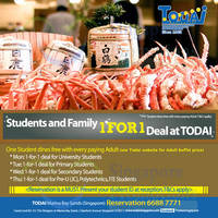 Read more about Todai 1 For 1 Deal For Students & Family 2 - 30 Jun 2015