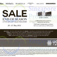 Read more about Dsquared2, MaxMara, Max&Co, Marella, iBlues & Y-3 Sale 28 - 31 May 2015