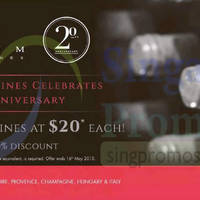 Read more about Vinum Wines 20th Anniversary Promotion 9 - 16 May 2015