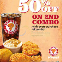 Read more about Popeyes Dine-in & Takeaway Discount Coupons 9 - 30 Jun 2015