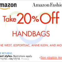 Read more about Amazon.com 20% OFF Handbags (NO Min Spend) Coupon Code 11 - 18 Jun 2015
