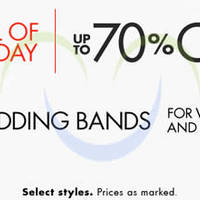 Amazon.com Up To 70% OFF Wedding Bands 24hr Promo 30 Jun - 1 Jul 2015
