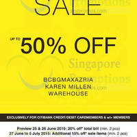 Read more about Bcbgmaxazria, Karen Millen & Warehouse Sale 26 Jun 2015