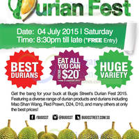 Read more about Bugis Street Durian Fest Featuring fr $20 Eat-All-You-Can & Durian Offers 4 Jul 2015
