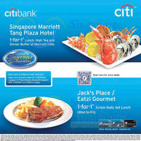 Read more about Marriott Cafe & Jack's Place / Eatzi Gourmet 1 for 1 Deal For Citibank Cardmembers 14 - 30 Jun 2015