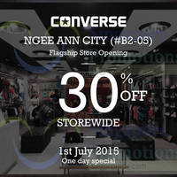 Read more about Converse 30% Off Storewide 1-Day Opening Sale @ Ngee Ann City 1 Jul 2015