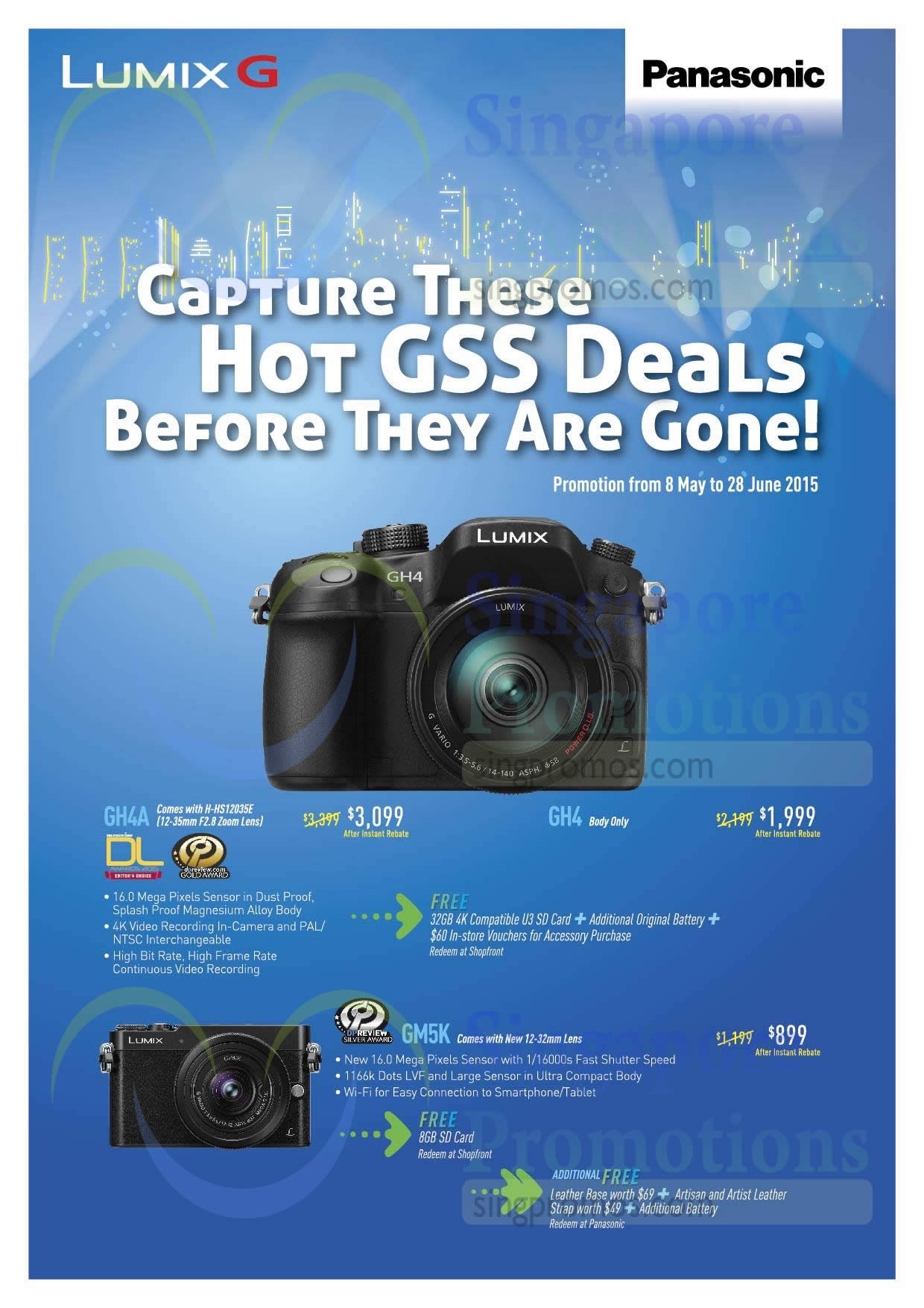 Panasonic GH4A Digital Camera, Panasonic GH4 Digital Camera, Panasonic GM5K Digital Camera