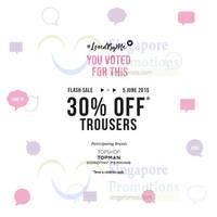 Read more about Dorothy Perkins, Topman & Topshop 30% Off Trousers 1-Day Promo 5 Jun 2015