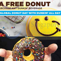 Read more about Dunkin' Donuts Buy Beverage & Get FREE Donut 5 Jun 2015