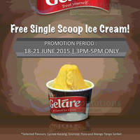 Read more about Gelare FREE Ice Cream Giveaway (3pm to 5pm) @ Suntec City Mall 18 - 21 Jun 2015