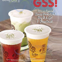 Gong Cha Buy 2 Get 1 FREE Promotion @ 112 Katong 3 Jun - 31 Jul 2015