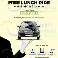 Read more about GrabTaxi FREE Lunch Rides Promo Code 22 - 26 Jun 2015