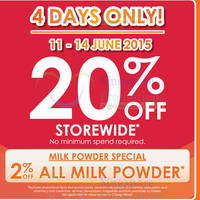 Read more about Guardian 20% OFF Storewide Promotion (NO Min Spend) 11 - 14 Jun 2015