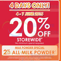 Read more about Guardian 20% OFF Storewide Promotion (NO Min Spend) 4 - 7 Jun 2015