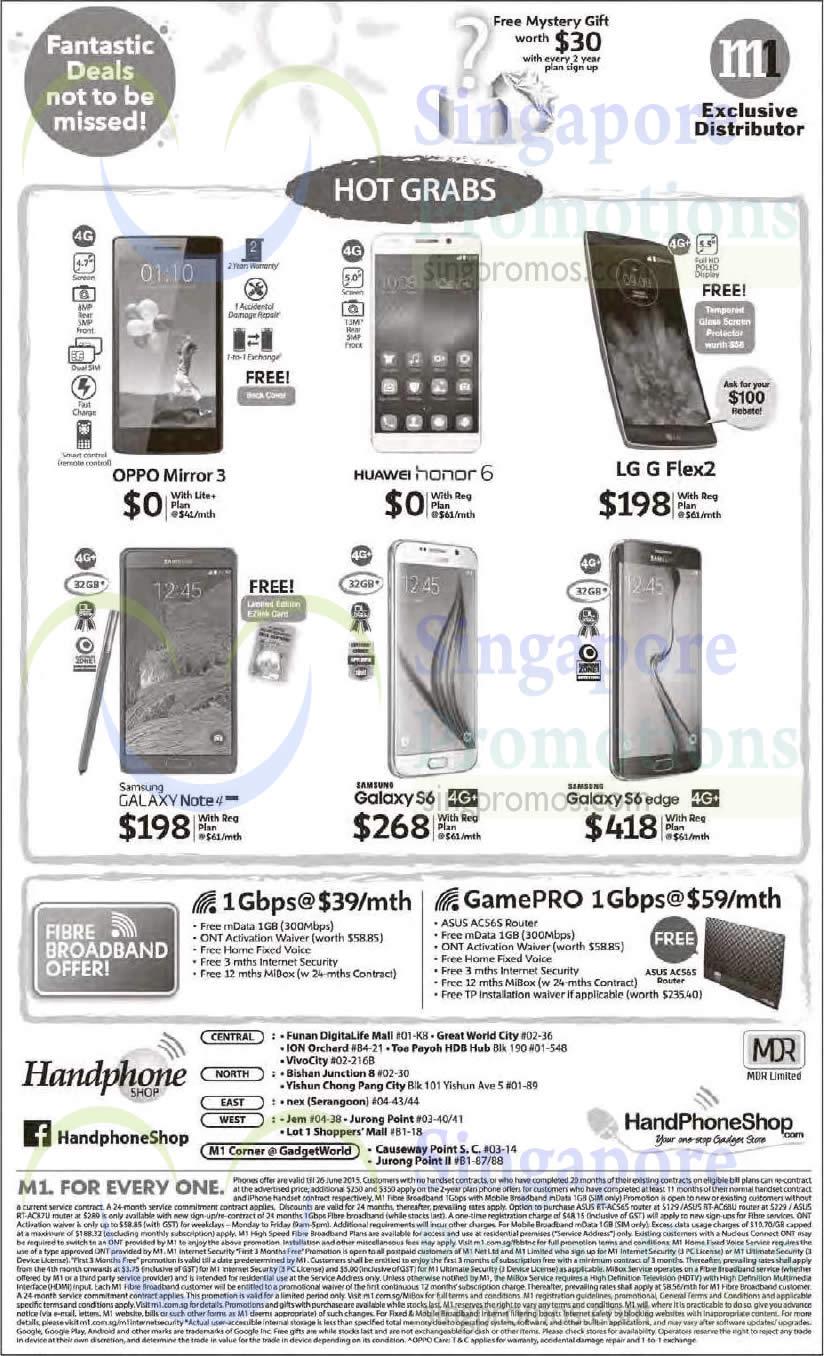 Handphone Shop Oppo Mirror 3 Huawei Honor 6 LG G Flex 2