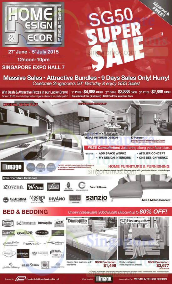Home design decor singapore expo 27 jun 5 jul 2015 for Home decor expo 2015